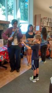 Celia and Henry on violins.