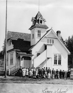 Lopez Island Library's building was one of the original schools in the late 1800s.